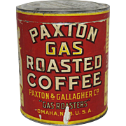 Early Paxton Gas Roasted Coffee Tin