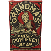 Early 1920's Unopened Box of Grandma's Borax Powdered Soap