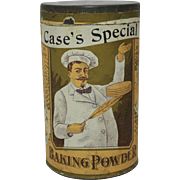 Early 1900's Case's Special Baking Powder Tin