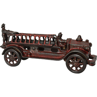 "Late 1920's A.C. Williams 7 1/2"" Long 2 Man Ladder Fire Truck"