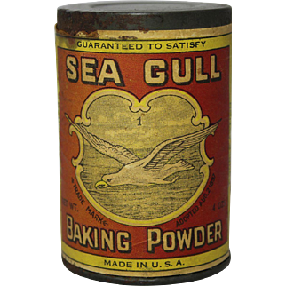 Turn of Century Unopened Sea Gull Baking Powder Tin