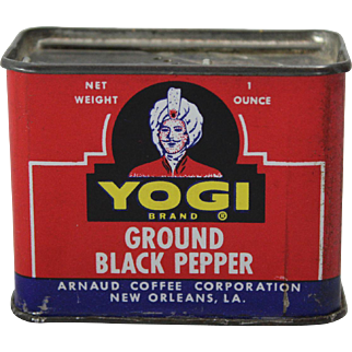 Yogi Brand Ground Black Pepper Spice Tin