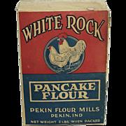 Rare Vintage White Rock Pancake Flour Box