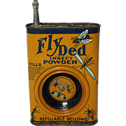 Very Rare 1930's, 40's Fly Ded Insect Powder Tin