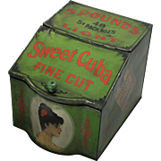 Early 1900's Sweet Cuba Counter Top Display Tin Bin