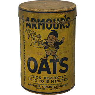 Early 1900's  'Armour Oats'  Sample Cardboard Container