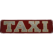 1930's, 40's 'MacEllis of Boston' Embossed Metal Taxi Sign