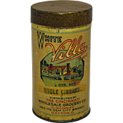 Vintage White Villa Whole Cinnamon Litho Tin