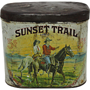 Rare, Early 1900's 'Sunset Trail' Cigar Tin