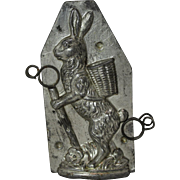 "H. Walter 6"" Hiking Bunny Chocolate Mold"