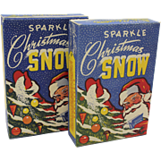 """Two Vintage 1950's Boxes of """"Sparkle"""" Christmas Snow"""