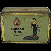 Pre-1920 German Gibson Girl Cigarette Tin