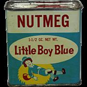 Vintage Little Boy Blue Nutmeg Spice Tin