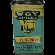 Vintage WGY Litho Spice Tin