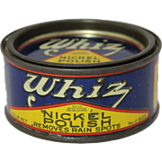 Vintage Unopened can of  Whiz Nickel Polish