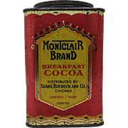 Early Sears, Roebuck & Co. Montclair Brand 1 lb. Cocoa Tin