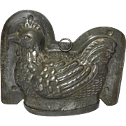 Early 1900's German Sitting Hen Chocolate Mold