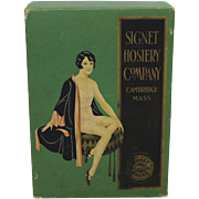 1920's 'Signet Hosiery' Flapper Girl Underwear Box