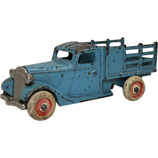1933 Arcade Blue Ford Stake Truck with Nickel Platted Grill