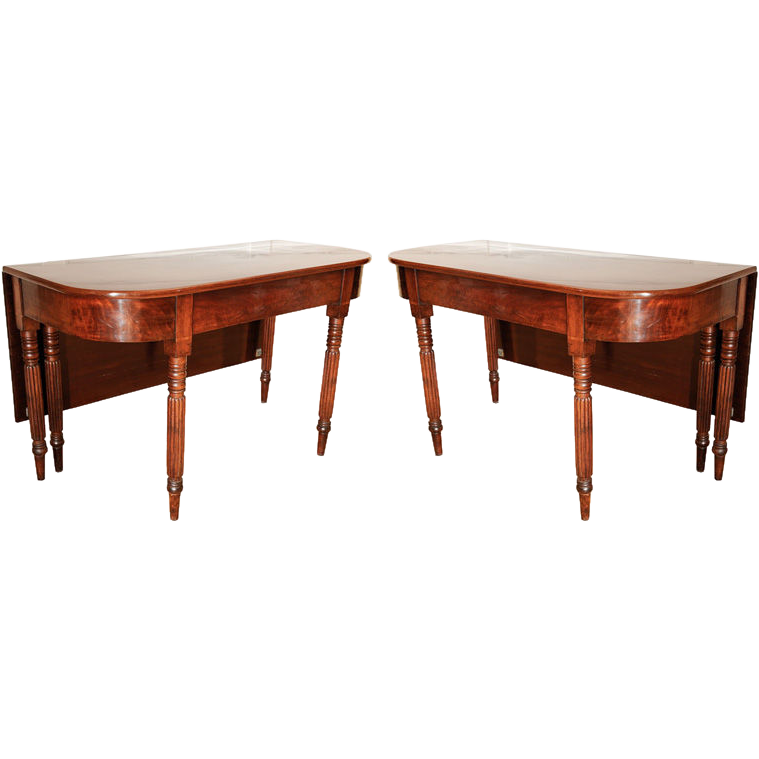 Antique Pair Of Drop Leaf Dining Tables From Hollisandknight On Ruby Lane