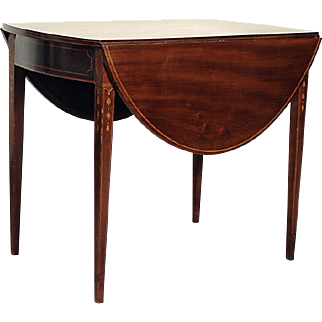 Antique Inlaid Baltimore Pembroke Table