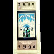 1988 Super Bowl XXII Ticket Unused! Washington Redskins vs Denver Broncos!  Mint! Reduced 75%!