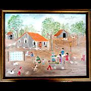 Jeannette Dingler, Age 81,  Original Folk Artist Painting - Red Tag Sale Item