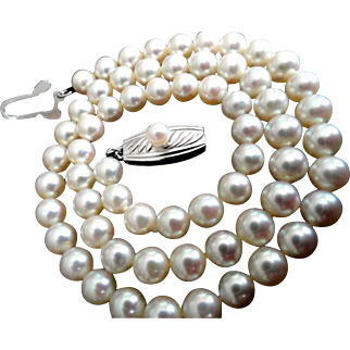 Vintage MIKIMOTO Sterling Cultured Pearl Necklace Perfect for the Graduate!