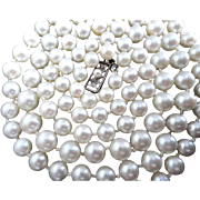 """Vintage 32"""" MIKIMOTO 8-6mm Cultured Pearl Necklace!"""