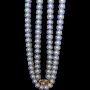 "Estate 18K Mikimoto 24""  7.0 - 6.5 mm Cultured Pearls!"