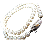 Vintage MIKIMOTO Sterling Cultured Pearl Necklace! Perfect for the Prom, Graduation, Sweet 16!