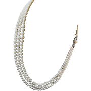 """Estate Mikimoto Triple Strand Cultured Pearl Necklace! 53+"""" Total Length! 291 Pearls!"""
