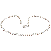 """Marked down 70%!  Vintage 17.5"""" MIKIMOTO Cultured Pearl Necklace.   Original Box!"""