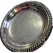 Reduced!  Birk's Sterling Ring or Trinket Dish with Repousse' Trim