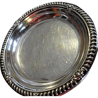Birk's Sterling Ring or Trinket Dish with Repousse' Trim