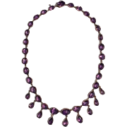 Victorian Amethyst Drop Necklace
