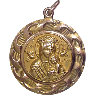 Jesus and Madonna with Child Pendant