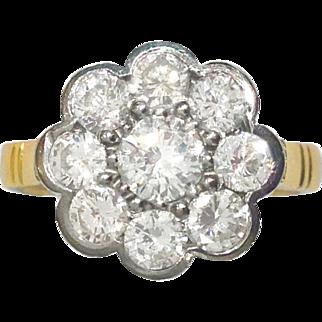 c. 1910 1.15ct Diamond Cluster Ring