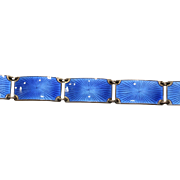 Finn Jensen Norwegian Silver and Blue Enamel Bracelet