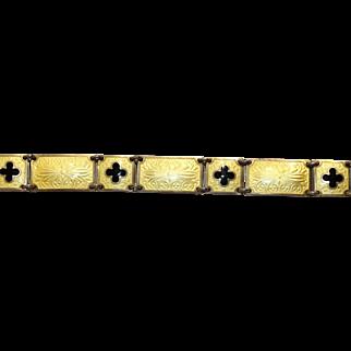 Buttercup Yellow Scandinavian Silver Enamel Bracelet