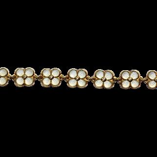 David Anderson White Enamel Flower Bracelet
