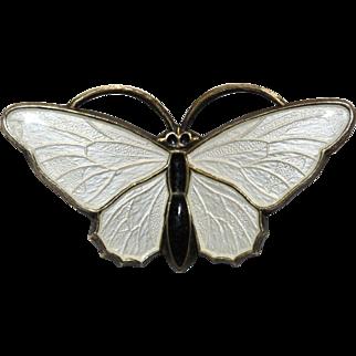 Norwegian Sterling Silver Enamel Butterfly