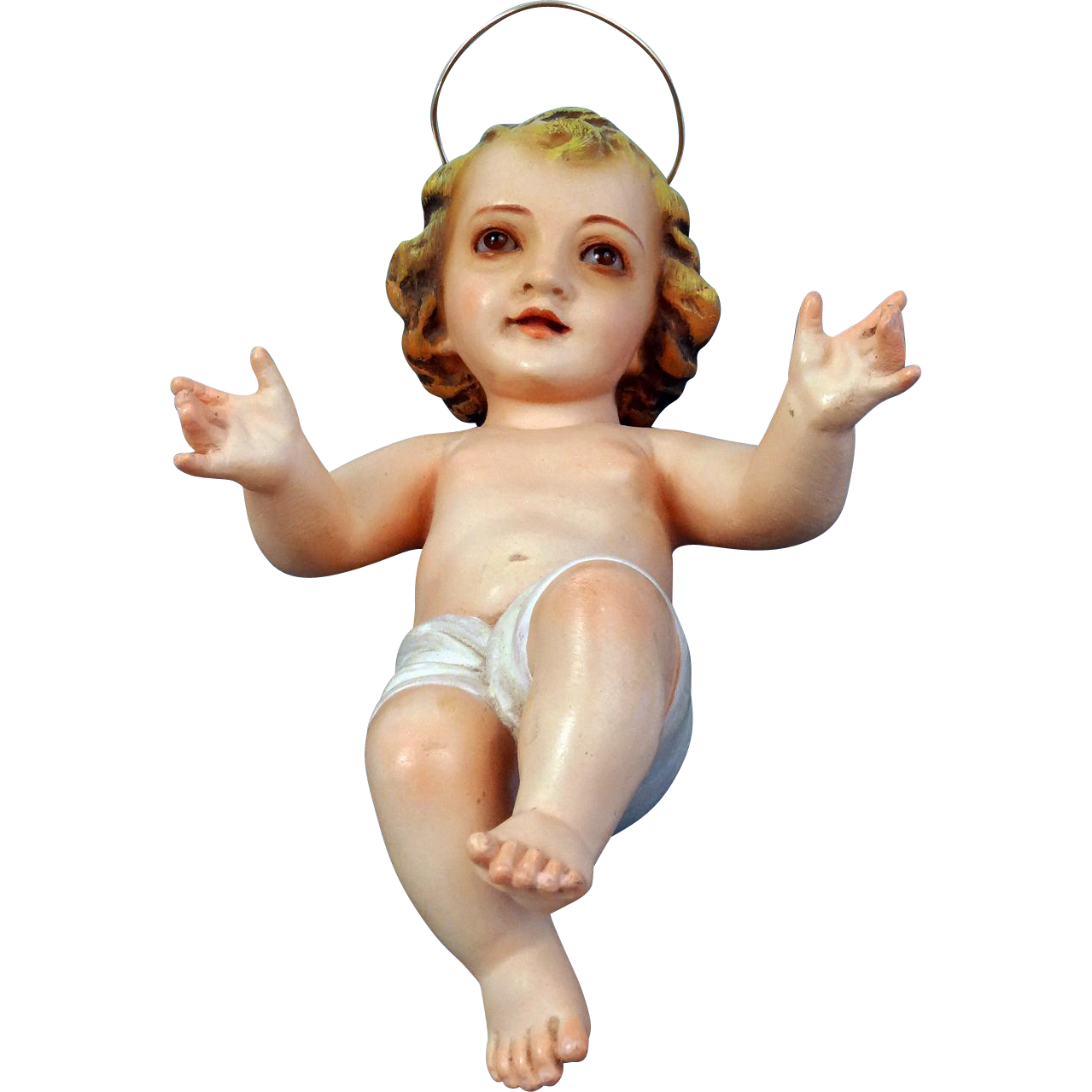 Olot Spain Baby Jesus Figure from stellarfinds on Ruby Lane