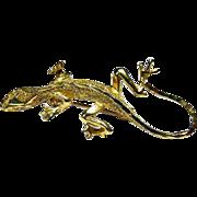 Small Gecko Salamander 14k solid gold pin or brooch