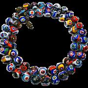 Vintage Venetian Millefiori Bead Necklace
