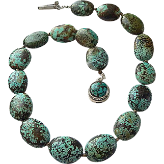 Chinese Hubei Province Turquoise Necklace By Estrella