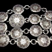 Signed Vintage NAVAJO Hand Stamped Sterling Silver BELT Wedding Basket Design