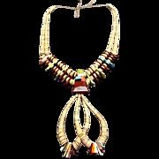 Vintage KEWA 2-Strand HEISHI Jaclas Necklace Pipestone Turquoise JOCLA