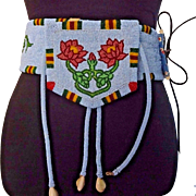 MUSEUM QUALITY Vintage Native American circa 1950s Montana Plateau Beaded BELT