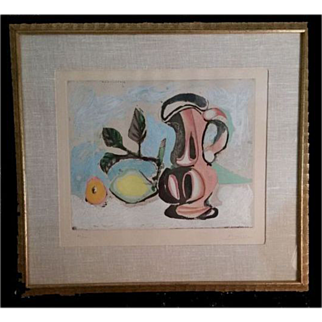 Picasso Still life with Lemon and Red Pitcher 62/300  cc1955